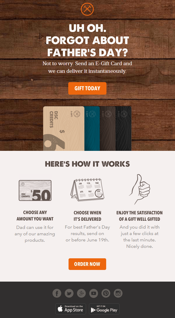Father's Day Email Subject Lines – Dollar Shave Club