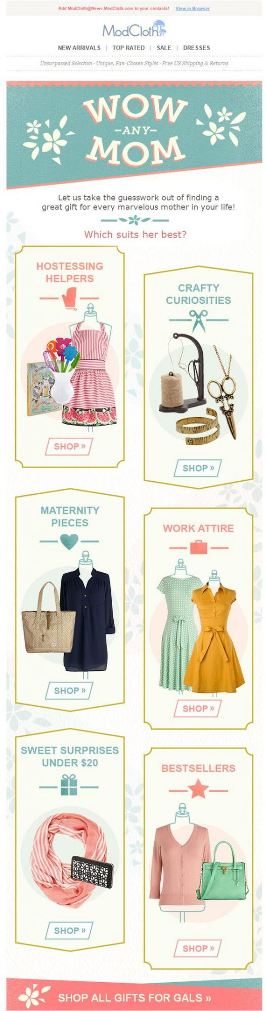 Modcloth's Mother's Day Marketing Campaigns We Loved