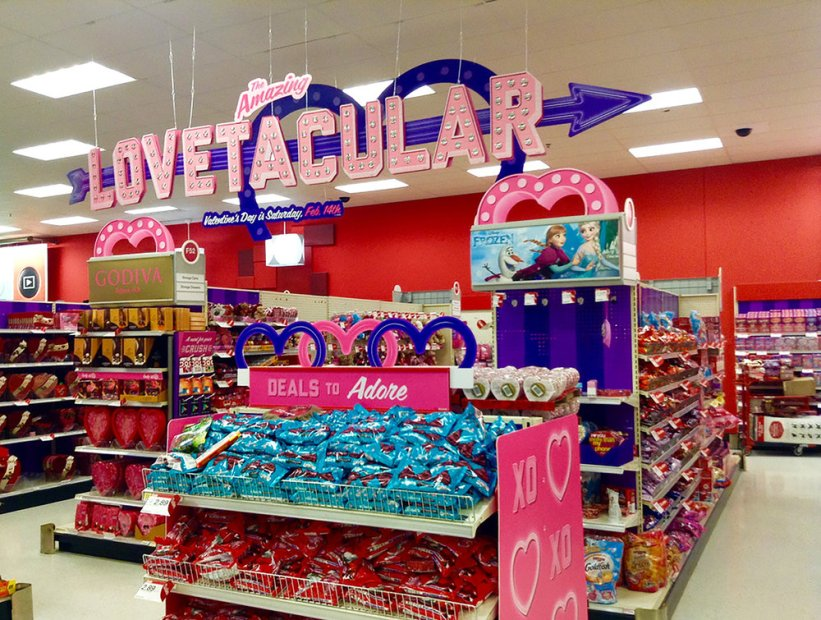 Target Valentines Day Display