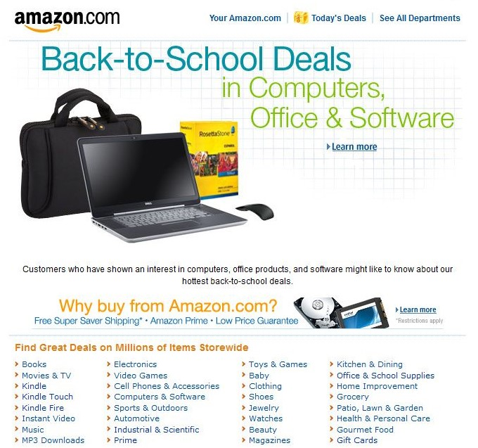 Amazon Back to School Sale