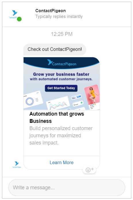 Sponsored messages in Facebook Messenger