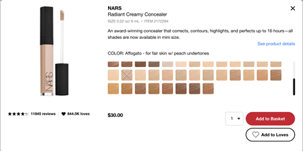 Sephora product page