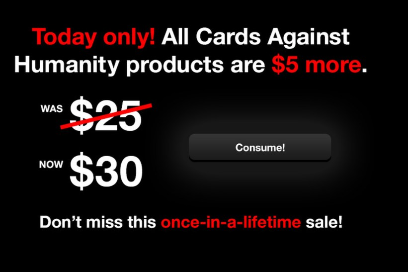 cards against humanity parody best black friday campaigns