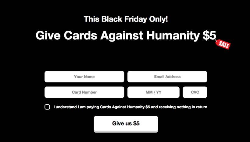cards against humanity best black friday campaigns