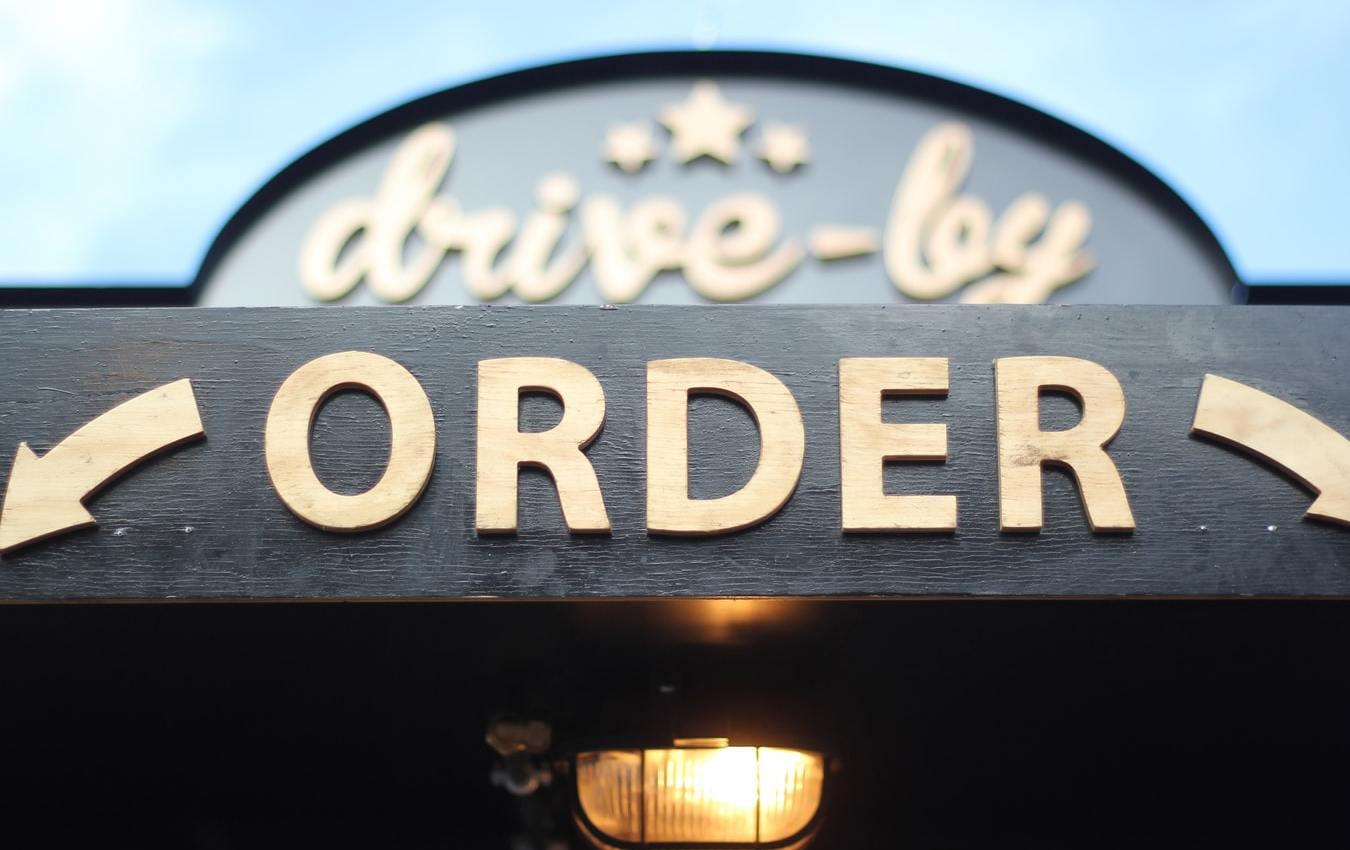 Wooden order signage