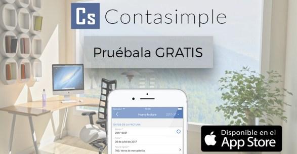 Prueba gratis la app de contasimple para iOS