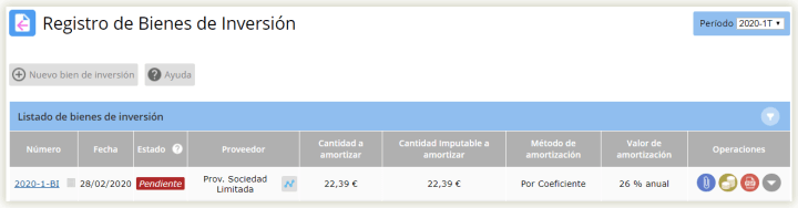 Libro registro de bienes de inversión