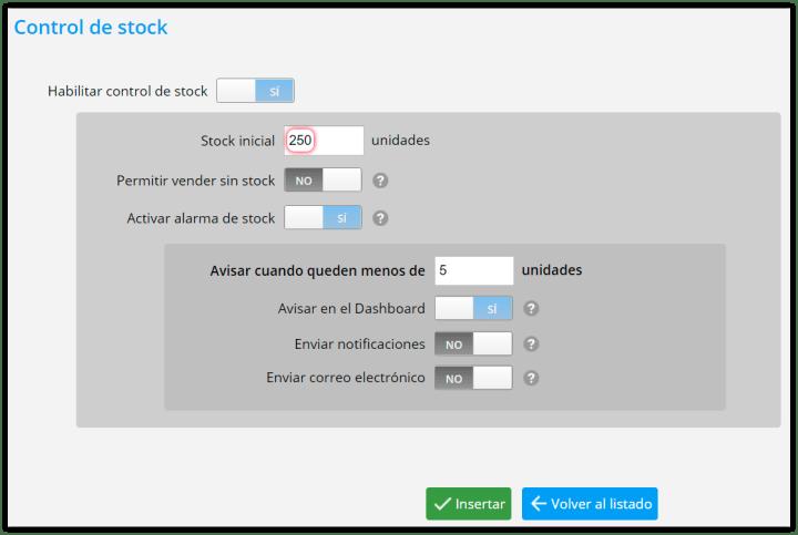 Stock inicial al configurar tu software de inventario
