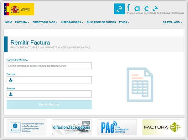 Adjuntar FacturaE a FACe