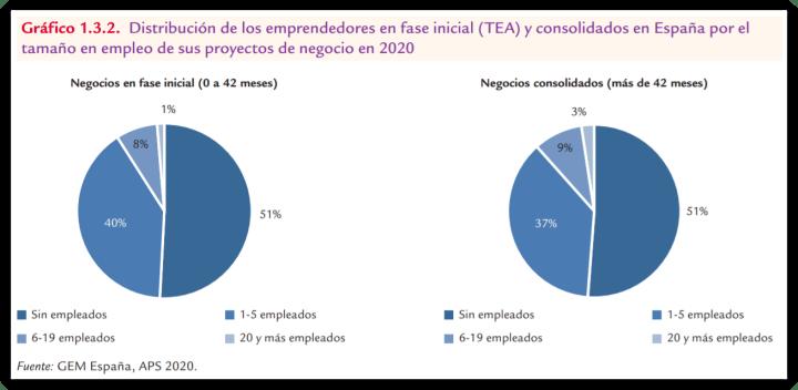 Emprendimiento por tamaño en empleo