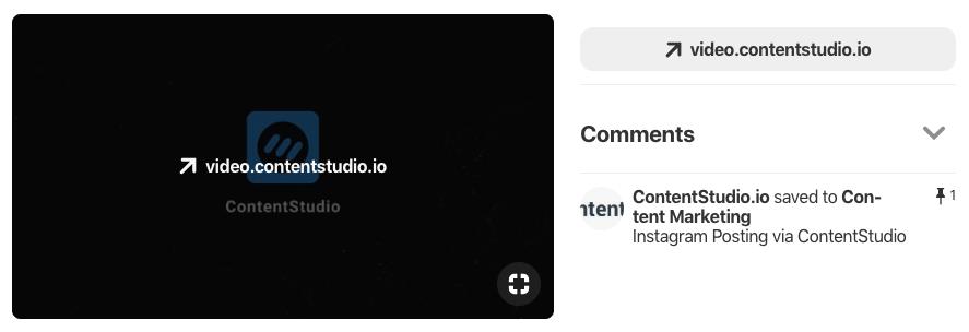 Share videos to Pinterest using ContentStudio