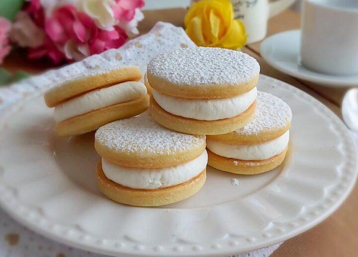 biscotti paradiso con crema al mascarpone dolce ripieno goloso