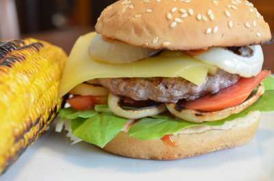 Hamburger & Pannocchia