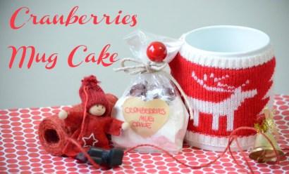 Cranberries Mug Cake