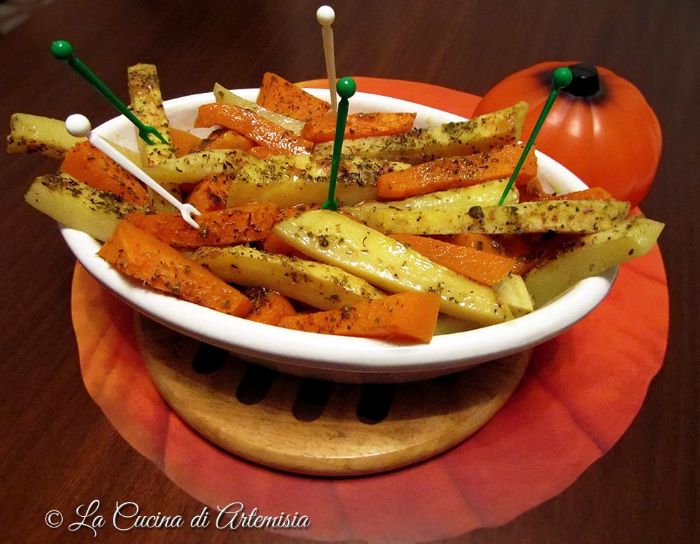 Bastoncini di zucca e patate