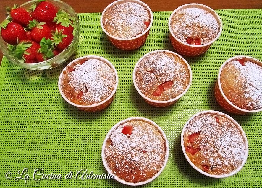 Muffins soffici alle fragole