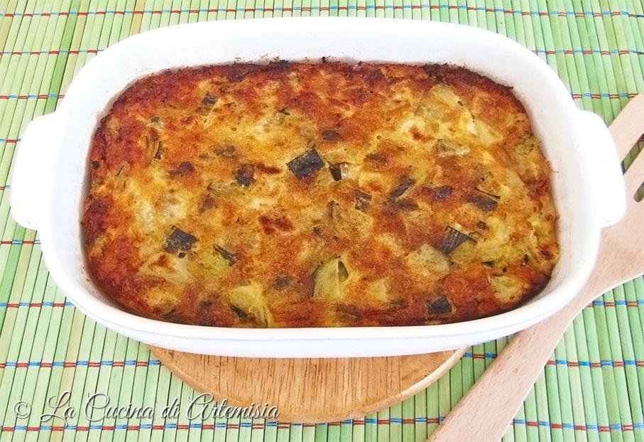 Frittata gratinata di zucchine al forno