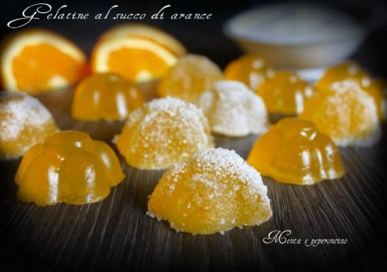 Gelatine al succo di arancia