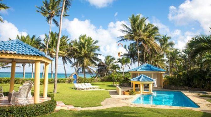 4-bedroom beach-front luxury villa ….