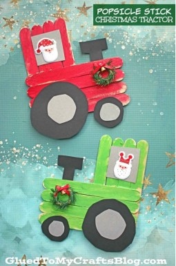 Christmas Tractor Craft for Kids   Cotswold Baby Co