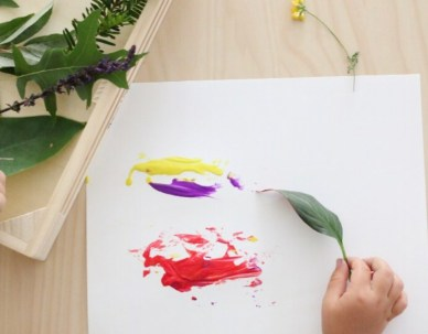 Painting with Nature 7 Nature Themed Play Ideas for Kids