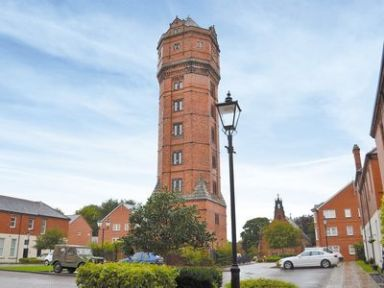 The Water Tower, Cheddleton, nr. Leek. Ref. RFFJ. Set in 137 acres of private park and woodland, this stunning Grade II listed Victorian water tower is the tallest building on the Staffordshire Moorlands. http://bit.ly/1bQ0ZIM.