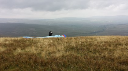 Paraglider on whernside