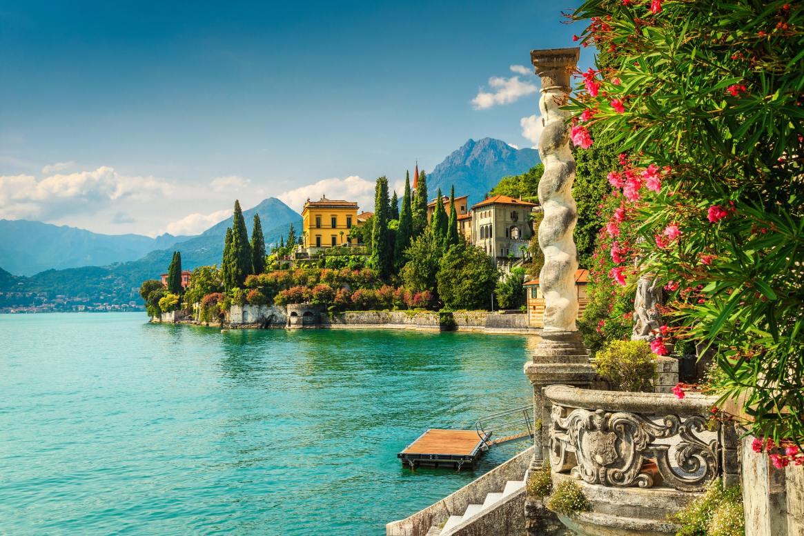 Lake Como in sunshine