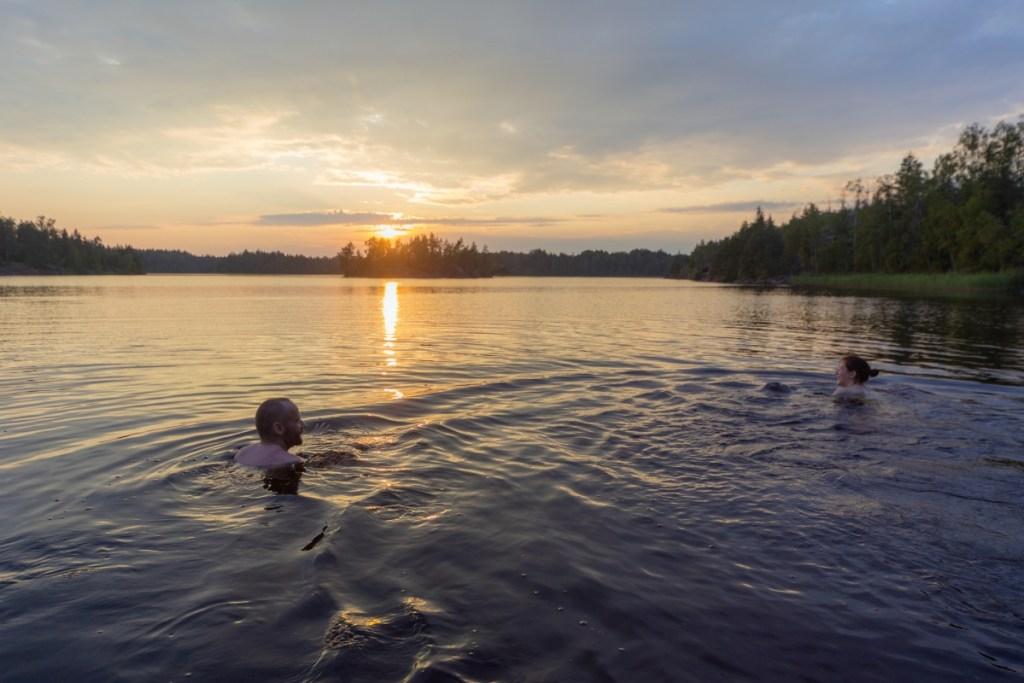 Wild swimming microadventure