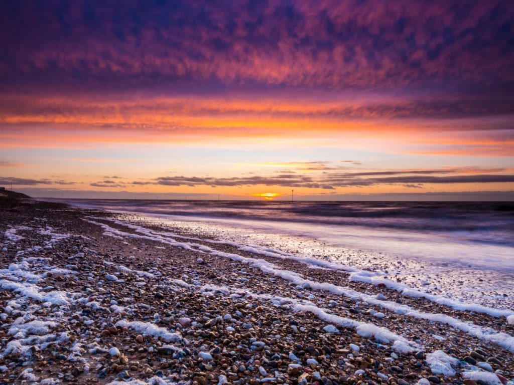 Hunstanton beach Norfolk