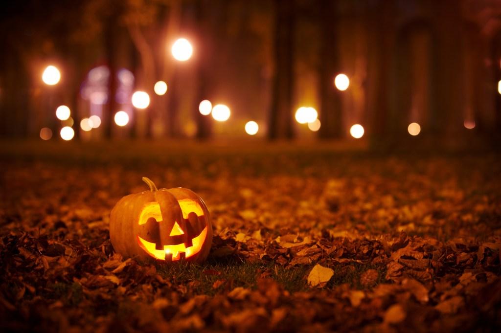Lit pumpkin