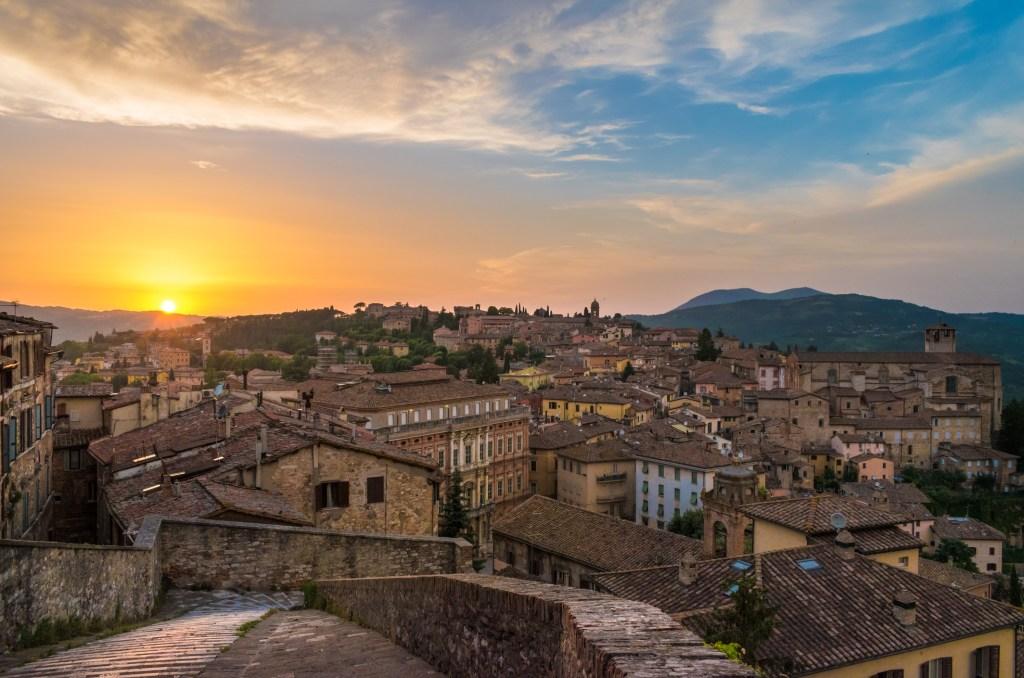 Perugia Italy autumn