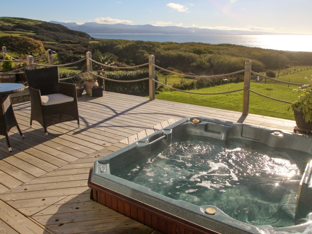 Wales winter hot tub