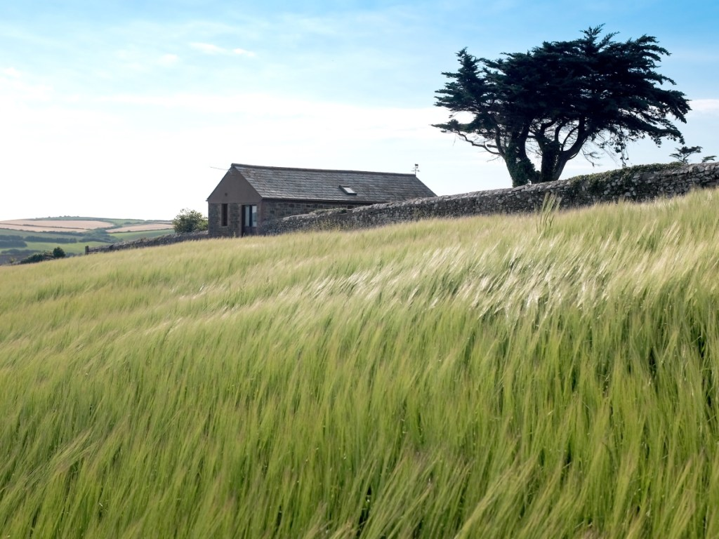Secluded Cornish getaway with fields