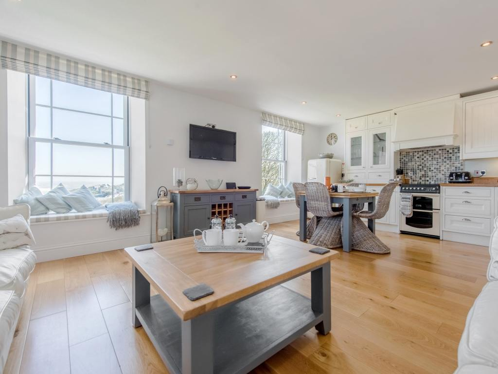 Stylish dog friendly apartment interior in St Ives