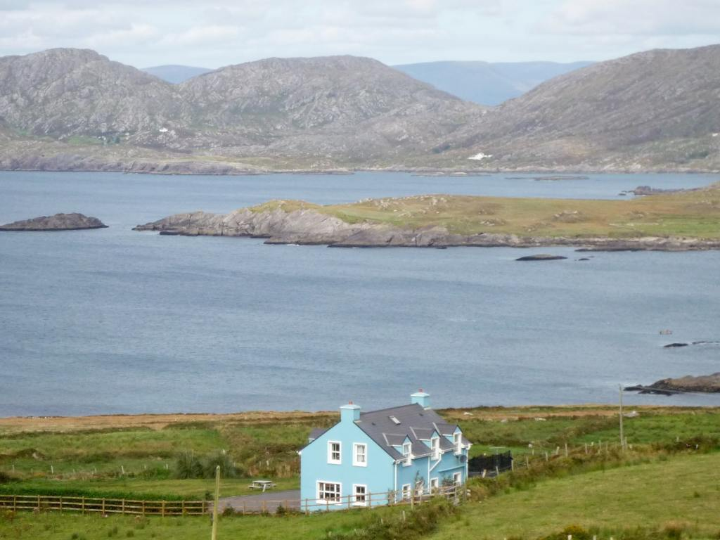 Cottage in Ireland on shoreline