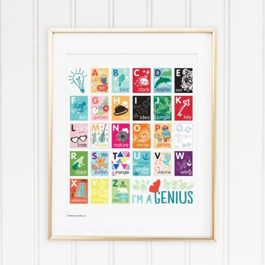 Genius Series Digital Download Art Print - Alphabet
