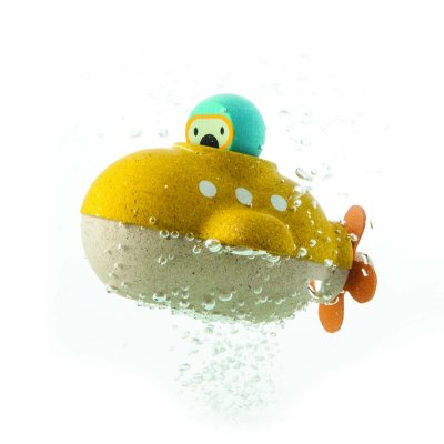 Go on a deep sea adventure during bath time with this adorable Plan Toys submarine.