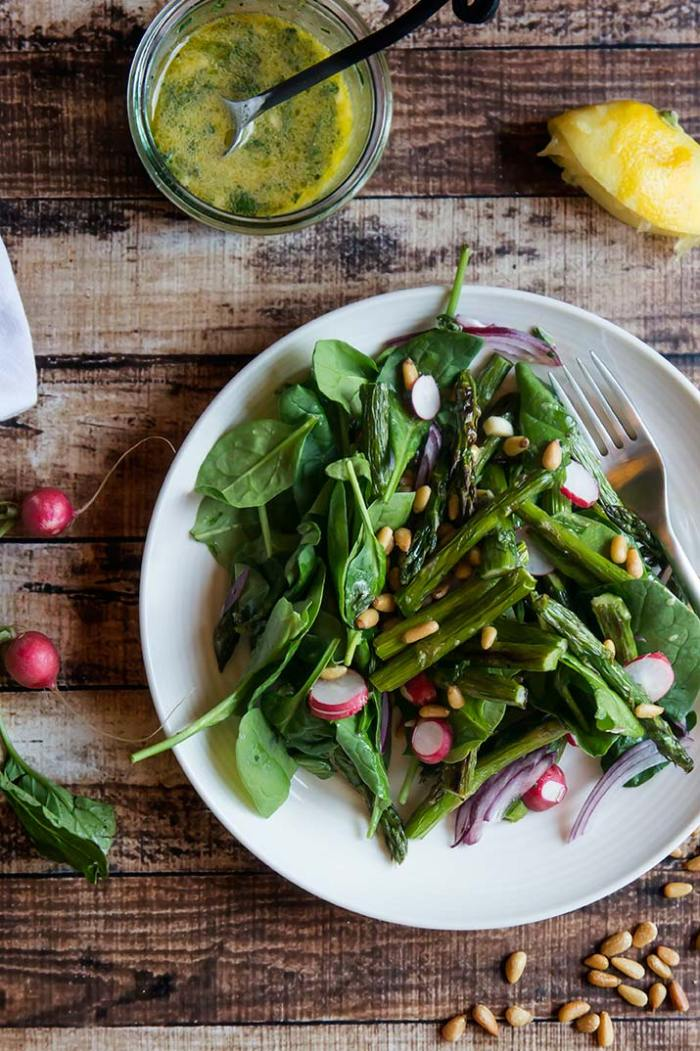 Roasted Asparagus & Raw Radish Salad