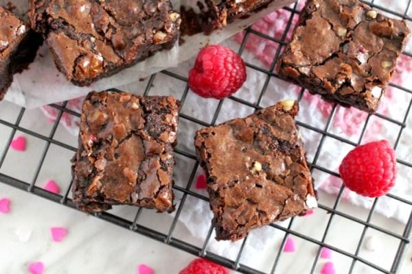 Slow Cooker Chocolate Raspberry Brownies