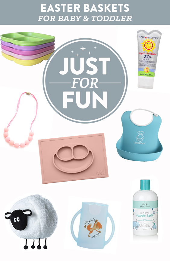 Clever & practical Easter basket ideas for baby and toddler