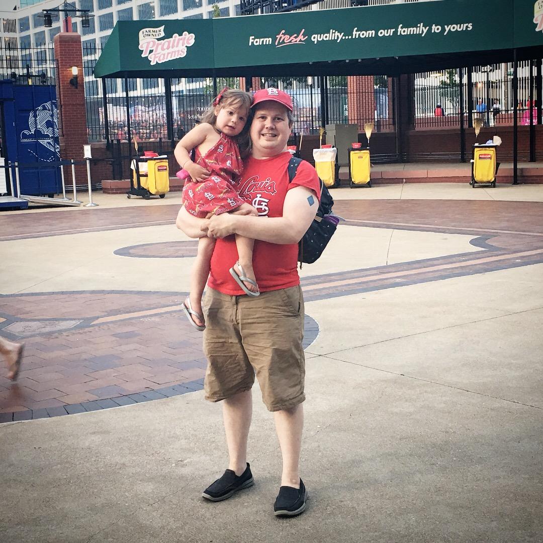 Dad at baseball game