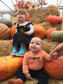 Fall fun at the pumpkin patch.