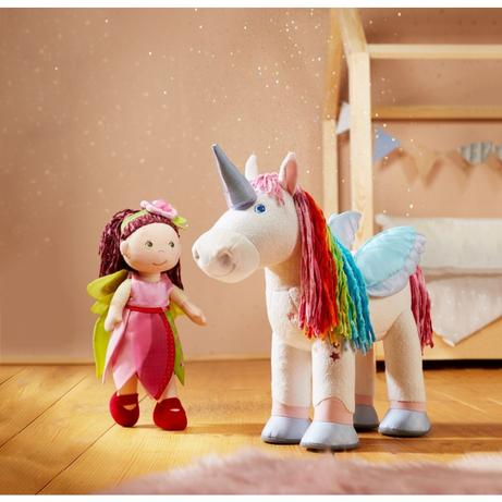 Unicorn toys with removable wings and horn.