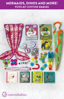 Check some toys off your shopping list! Have a look at some of the newest toys at Cotton Babies + FREE Shipping!