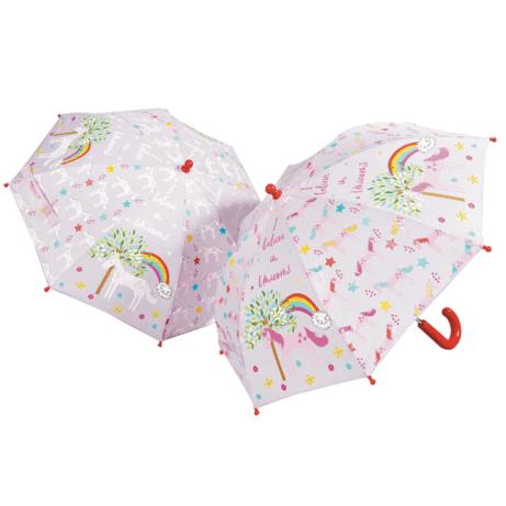 Color-changing unicorn umbrella