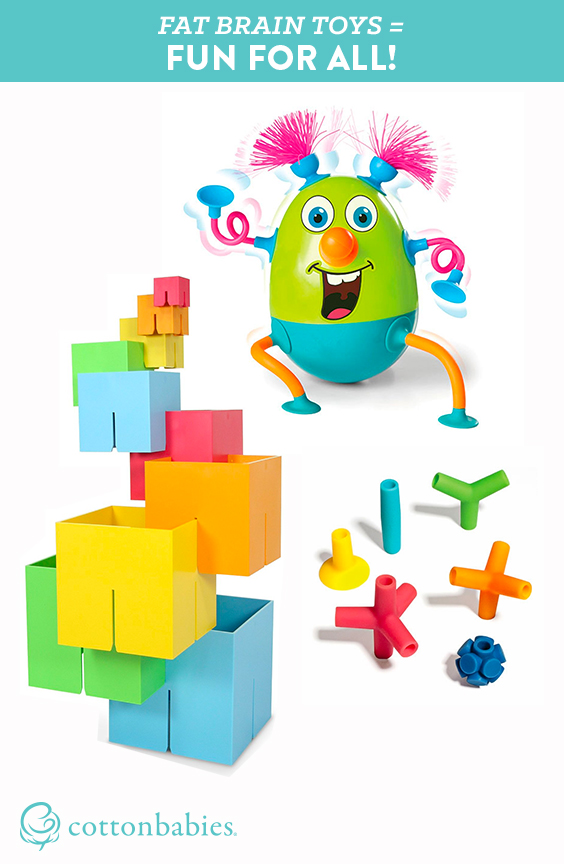 Fun toys for a wide range of ages are hard to find, but these Fat Brain Toys are sure to be fun for all. #cottonbabies #FatBrainToys