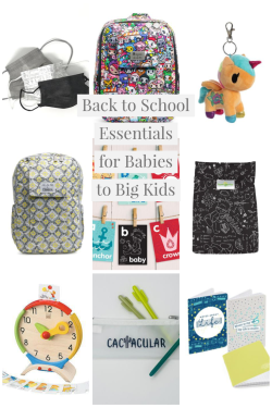 Back to School Essentials for Babies to Big Kids
