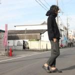 YAECA(ヤエカ) EASY SLACKS SLIM×nisica (ニシカ) cotyle別注 ウールスモッグパーカー