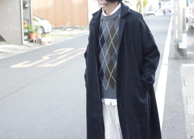 冬のモノトーン × アーガイル